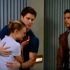 Kiki breaks down in Dillon's arms after finding out Ava's part in Morgan's death
