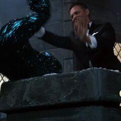Valentin throws Ava off the parapet. (NYE 2019)