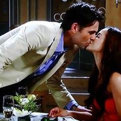 Patrick kisses Sabrina
