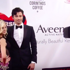 Griffin and Maxie on the red carpet
