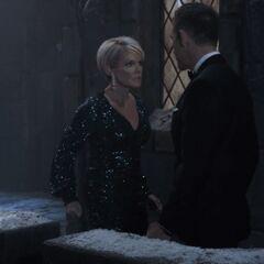 Valentin and Ava argue on the parapet. (NYE 2019)