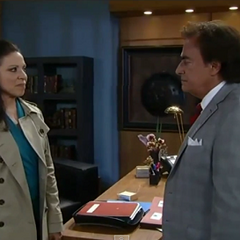 Victor and Liesl in his office