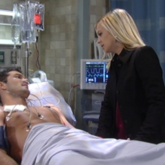 Nathan tells Maxie that he's going to be fine and that she has to leave
