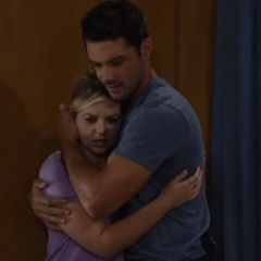 Nathan and Maxie hug for the first time