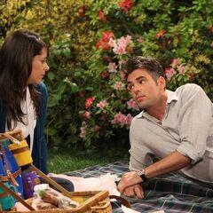 Patrick and Robin having a picnic