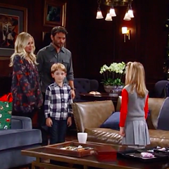Charlotte is visited by her mother, brother, stepfather and grandmother on Christmas