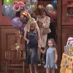 Christina and Serena arrive at her party