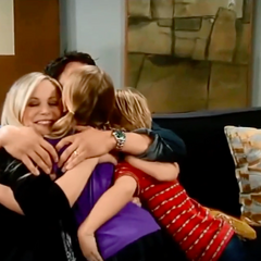 Falconeri family hug