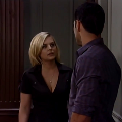 Nathan and Maxie run into each other at the court house