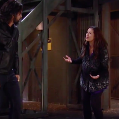 Arguing on the docks/Sabrina admits to Carlos that he's the father--come with me