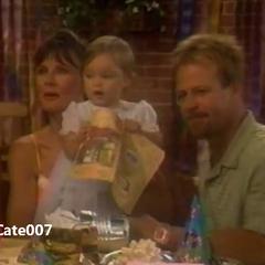 Christina with her parents