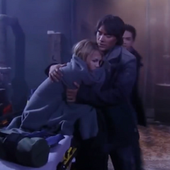 Lante hugging after the bomb explosion (2010)