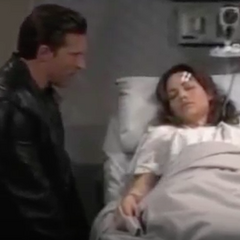 Jason and Elizabeth in the hospital during her pregnancy