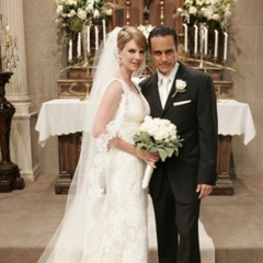 Sonny and Kate (Ward) on their wedding day (2008)