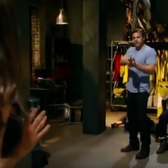 Jason holds Sam at gunpoint thinking she's another bad guy