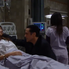 Sonny and Brenda in the hospital