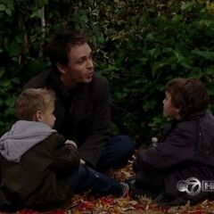 Lucky with sons Cameron and Jake