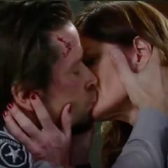 Franco and Nina's first kiss