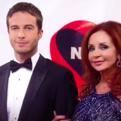 Lucas and Bobbie on the red carpet