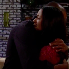 Felix comforts Sabrina after she decides not to tell Patrick