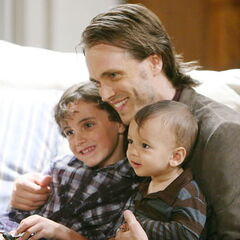 Lucky with sons Cameron and Aiden