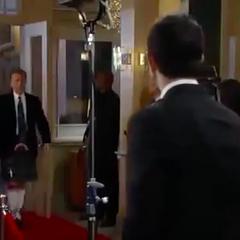Duke arrives on the red carpet
