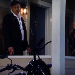 Sam brings Jason his bike