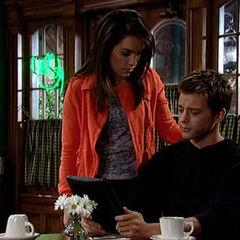 Michael and Kiki talk at Kelly's