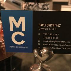 <b>Metro Court Hotel</b> - Carly Corinthos Business Card - 2018