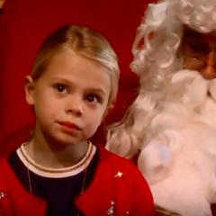 Charlotte sees Santa