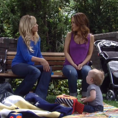 Olivia with her daughter-in-law, Lulu and her grandson, Rocco