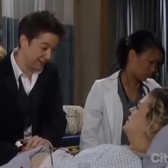 Spinelli and Maxie during labor