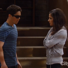 Rafe tries to hide his black eye from Sam