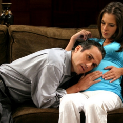 Sam and Sonny during her pregnancy (Sonny talks to Lila)