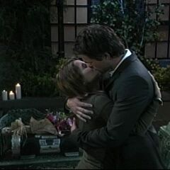 Patrick and Robin kissing kissing after first 'I love yous' (2006)