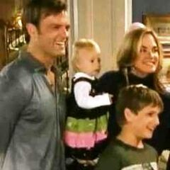 Blair and Victor with son Jack and granddaughter Hope