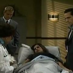 Sam gets an amniocentesis to determine paternity