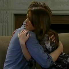 Michael and Kiki comfort each other