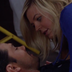 Nathan and Maxie almost kiss