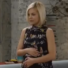 Maxie during her pregnancy