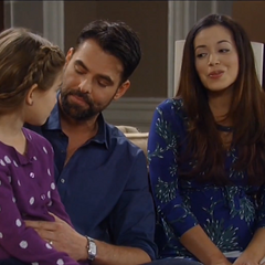 Pregnant Sabrina, daddy Patrick and big sis, Emma