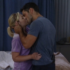 Nathan and Maxie's first kiss
