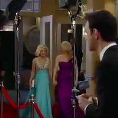 Maxie and Felicia arrive on the red carpet