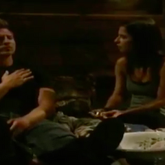 Sam takes care of Jason after Jerry shot him (2009