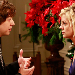 Spinelli and Maxie at Robin and Patrick's wedding