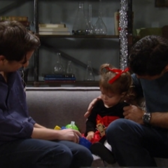Georgie with her dad and Nathan