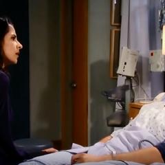 Jason and Sam talk in the hospital