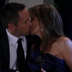 Julian and Alexis kiss at the Nurses Ball