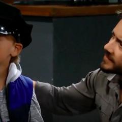 Son Dante and grandson Rocco