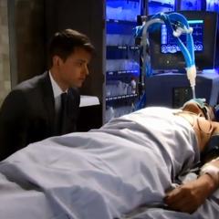 Michael tells an unconscious Sonny that he loves him